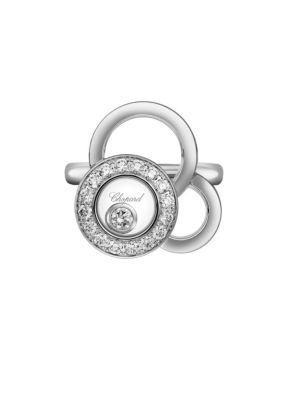 Chopard Happy Dreams 18-Karat White Gold Diamond Ring