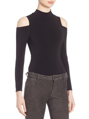 Suzi Cold-Shoulder Bodysuit by Alice + Olivia