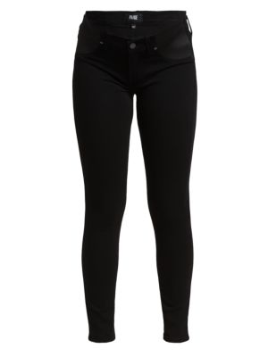 PAIGE MATERNITY Verdugo Ultra-Skinny Maternity Jeans in Black Shadow