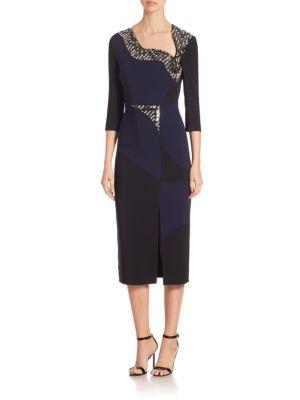 Cady Sequined Three-Quarter Dress