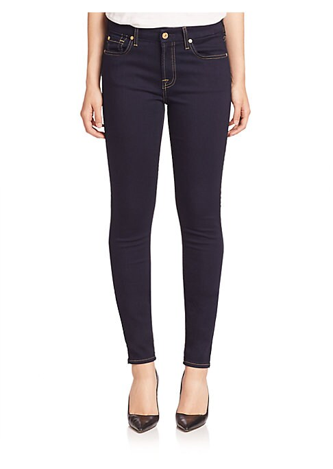 """Image of .From the b(air) Collection. Remarkably slimming stretch denim that's light as air and soft as silk, you'll barely notice they're there. Belt loops. Zip fly with button closure. Five-pocket style. Rise, about 9"""".Inseam, about 30"""".Leg opening, about 10"""".Co"""