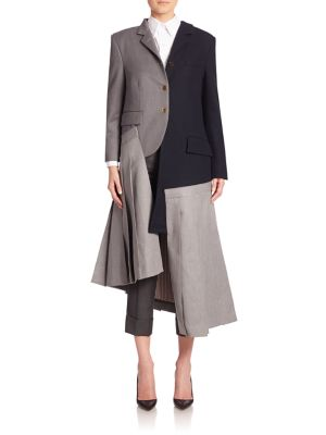 Woolen Jacket & Skirt Dress by Thom Browne