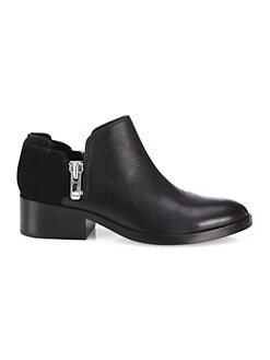 30941f169405c3 3.1 Phillip Lim. Alexa Zipped Leather   Suede Ankle Booties