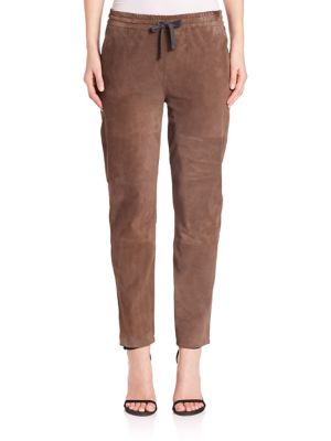 Suede Drawstring Pants by Eleventy