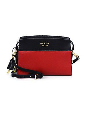 10eb96013 Prada - Mini Esplanade Leather Crossbody Bag - saks.com