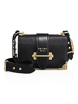 ebd3c0b436f7 Prada - Cahier Leather Crossbody Bag - saks.com