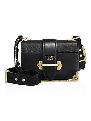 0be7933a010f Prada - Cahier Leather Crossbody Bag - saks.com