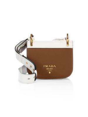 72e44610b0fb Prada - Pionnière Leather Saddle Bag - saks.com