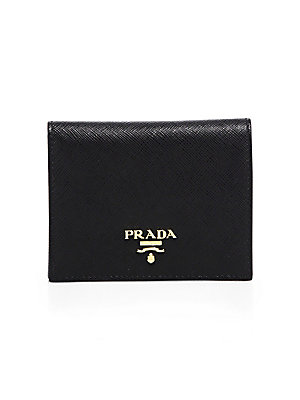 76a7543a757a Prada - Mini Saffiano Leather Bifold Wallet - saks.com