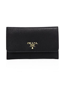 93210bd1eac9 Prada. Saffiano Leather Passport Holder And Card Case