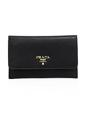 175ee776151b Prada - Saffiano Leather Passport Holder And Card Case