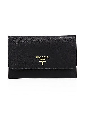 defadcc4bda7 Prada - Saffiano Leather Passport Holder And Card Case - saks.com