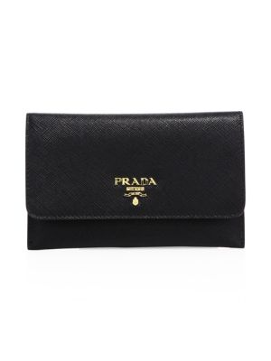 Saffiano Leather Passport Holder And Card Case by Prada