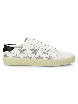 d30b478a9d16 Saint Laurent - Court Classic Metallic Star Leather Sneakers - saks.com