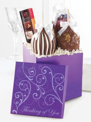 Four Piece Special Occasions Chocolate Caramel Apple Gift Box