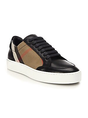 ee14f09a7bf Burberry - Salmond House Check  amp  Leather Sneakers