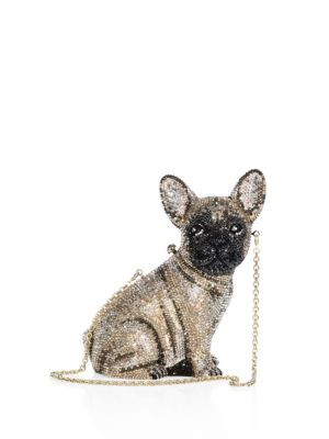 Pierre French Bulldog Crystal Clutch