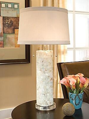 Regina Andrew Design MotherofPearl Column Lamp