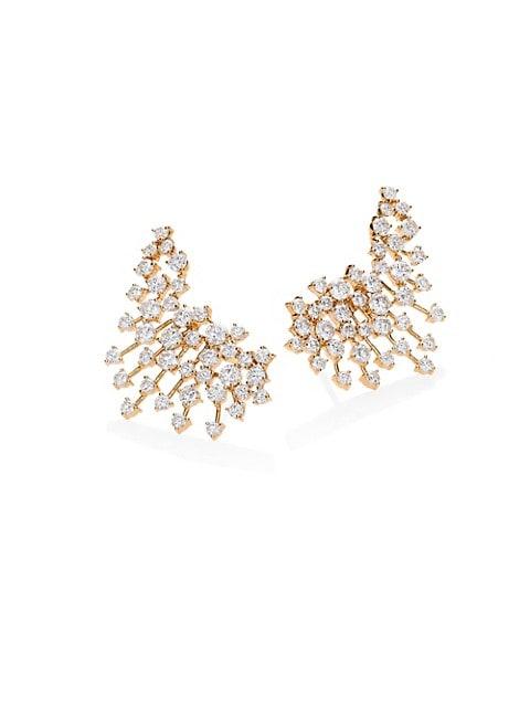 Luminus Diamond & 18K Yellow Gold Earrings