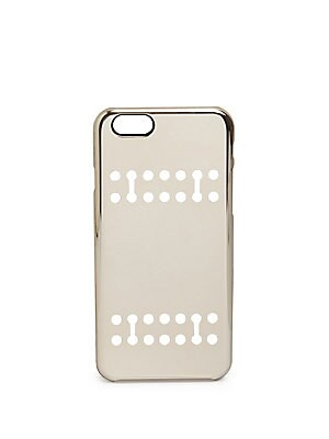 "Image of Innovative protective case in a reflective finish Fits iPhone 6/6s Plastic 5""W X 7""H X 2""D Imported. Men Accessories - Tech Accessories > Saks Fifth Avenue. Boostcase. Color: Gold."