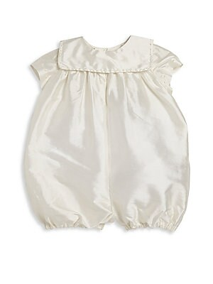 ed1cb38be Isabel Garreton - Baby Boy's Charming Silk Christening Romper