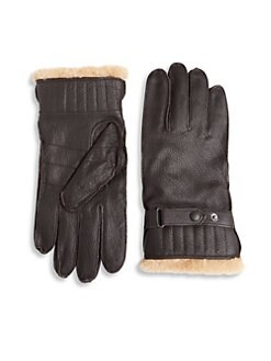 ecd4774e94129 QUICK VIEW. Barbour. Textured Leather Gloves
