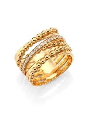 Hueb Bubbles Diamond 18k Yellow Gold Ring
