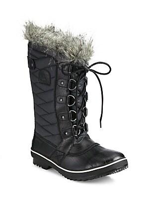 9b71c0614331 Stuart Weitzman - Nikita Fur-Trim Suede Platform Boots - saks.com