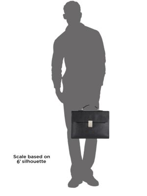 PRADA Leathers Textured Leather Briefcase