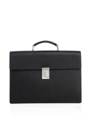 Prada Leathers Saffiano Leather Briefcase