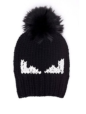 7c424330d5b Fendi - Monster Fur-Pom Wool Hat - saks.com