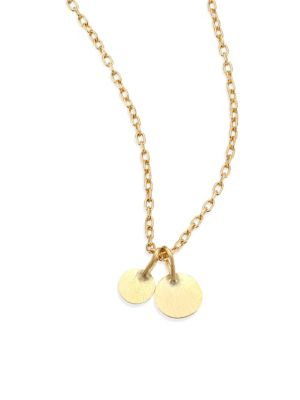SIA TAYLOR Dots 18K Yellow Gold Pendant Necklace