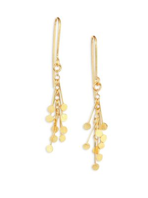 SIA TAYLOR Dots 18K Yellow Gold Drop Earrings