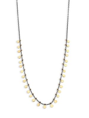 SIA TAYLOR Dots 18K Yellow Gold & Sterling Silver Necklace
