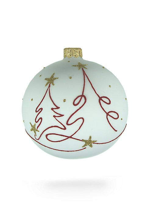 "Image of Let-in the warmth and happiness of Christmas as you bring home this pretty hand-painted decoration that has been crafted from premium mouth-blown glass. Handmade/hand-painted. Diameter, about 4"".Glass. Spot clean. Imported."