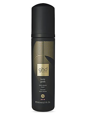 Image of A light and non-sticky easy-use mousse that creates soft but lasting volume and fullness in all hair types. It also contains the ghd Heat Protection System to protect your hair from heat damage. Apply 2-4 pumps (depending on length/thickness) to damp hair