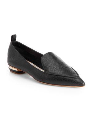 Beya Black Quilted Nappa Leather Loafers