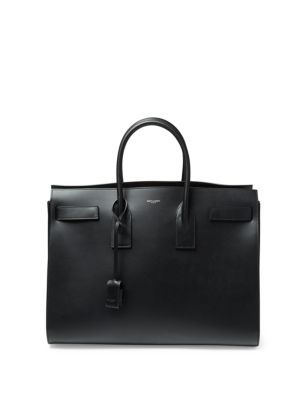 Studded Strap Calf Leather Carryall Bag