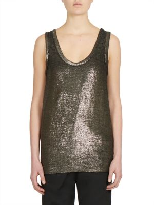 Sleeveless Linen Blend Top by Ann Demeulemeester
