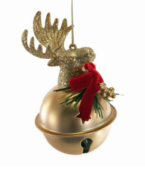 Noel Collection Moose Head Jingle Bell Ornament