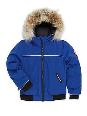 442c5d483cff Canada Goose - Boy s Eakin Fur Trimmed Quilted Parka - saks.com