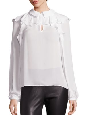 COLLECTION Ruffle Neck Blouse by Saks Fifth Avenue