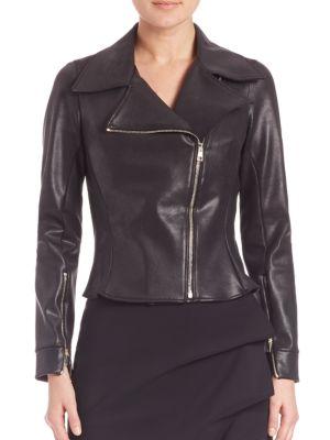 Kiodi Asymmetrical Zip-Front Moto Jacket by La Petite Robe di Chiara Boni