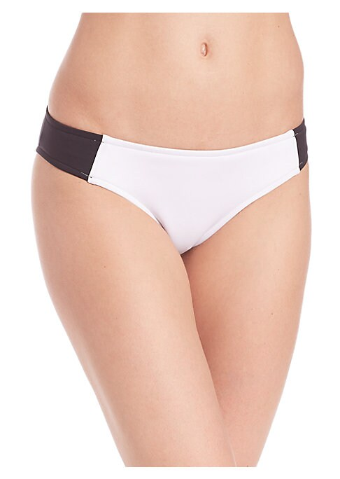 Image of Body-sculpting and slimming swim style in two-tone palette. Stretch bottom. Light body control. Polyester/elastane. Hand wash. Imported. Please note: Bikini top sold separately.