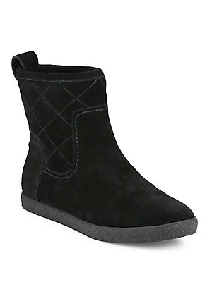 21ee4fa9e526f Tory Burch - Alana Quilted Suede   Shearling Booties - saks.com
