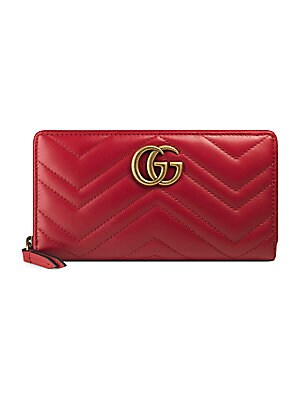 7025832f17f0 Gucci - GG Marmont Matelassé Leather Zip-Around Wallet - saks.com