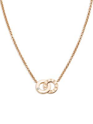 Piaget Possession Diamond & 18K Rose Gold Pendant Necklace