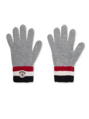 Kids Striped Knit Wool Gloves