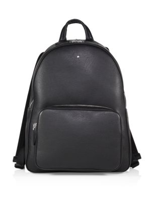 MONTBLANC Meisterstuck Soft-Grain Leather Backpack In Black