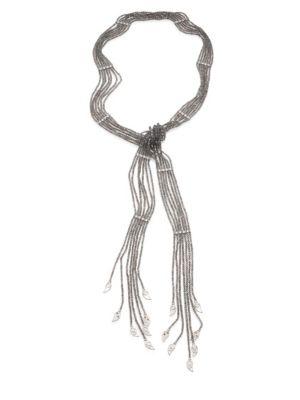 COOMI SILVER Vitality Diamond, Labradorite & Sterling Silver Necklace
